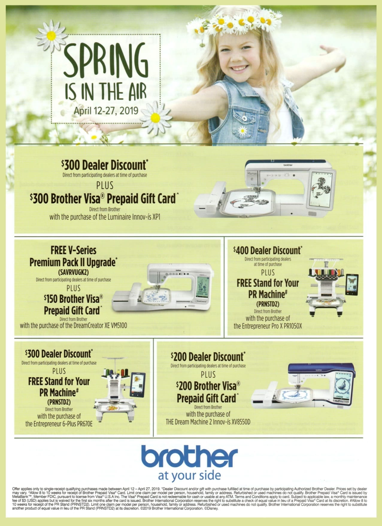 Brother Coupons - Spring Is In The Air