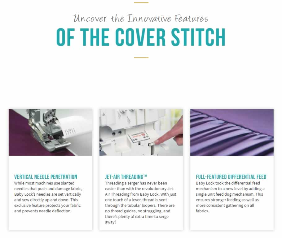 Baby Lock Cover Stitch Serger