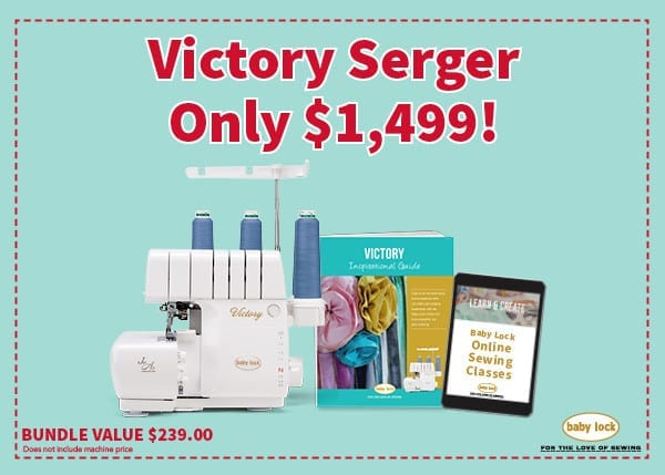Baby Lock Victory Serger Bundle