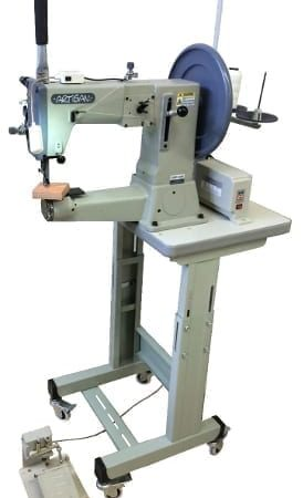 "Artisan Toro-3200 Ped 520 Compound Needle Feed, Walking Foot (Unison Feed) Lockstitch Sewing Machine has a 12 1⁄2"" Working Area, with a Large Barrel Bobbin and Oscillating Shuttle system."