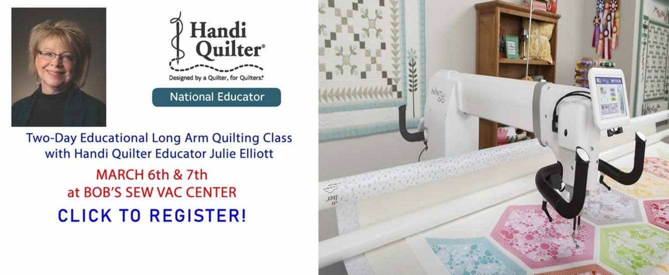 Handi Quilter Two Day Julie Elliott Event March 6-7, 2020